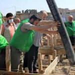 İHH Afrin'de 1500 kişilik cami inşaatına başladı