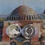 Ayasofya Camii gümüş üzeri altın kaplama hatıra paraları online satışa sunulacak