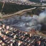 Maltepe'de askeriyede yangın