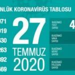 Son dakika haberi: 27 Temmuz koronavirüs tablosu! Vaka, ölü sayısı ve son durum açıklandı