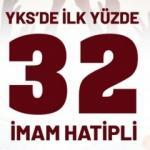 YKS'de ilk yüzde 32 imam hatipli