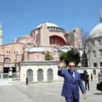 Cumhurbaşkanı Erdoğan, Ayasofya'da! İlk fotoğraflar...