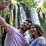 Dünyaca ünlü Düden Şelalesi'nde fotoğraf sırası