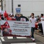Nagoya'da FETÖ'ye ait okulun önünde protesto