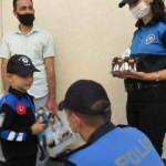 Polis olmak isteyen çocuğa sürpriz doğum günü kutlaması