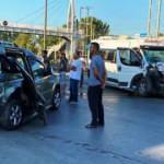 İşçi servisiyle hafif ticari araç çarpıştı: 1 ölü 2 yaralı