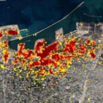 NASA Beyrut'taki patlamanın uydu görüntülerini yayınladı
