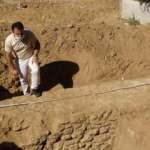 İnşaat alanında 1600 yıllık sur duvarı bulundu