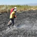 Meteor yangını olduğu iddia edilen alanda mıknatıslarla gök taşı aradılar