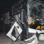 Aksaray'da yolcu otobüsü ile kamyon çarpıştı : 4 yaralı