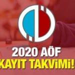 AÖF yeni kayıt ve kayıt yenileme tarihleri: Anadolu Üniversitesi 2020-2021 kayıt takvimi!