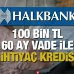 HalkBank emeklilere 100 bin TL'ye kadar 60 ay vade ile İhtiyaç Kredisi sunuyor!