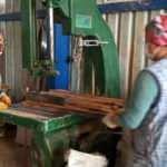 Kereste fabrikasında çalışan kadınlar erkeklere taş çıkartıyor