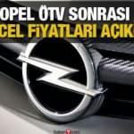 Opel ÖTV sonrası 2020 fiyat listesini açıkladı! Opel Astra Corsa Combo güncel fiyatları