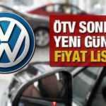 ÖTV sonrası 2020 model sıfır Volkswagen Passat Polo Golf T-Roc Tiguan Arteon Touareg fiyatları