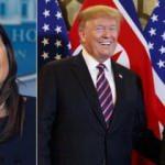 Sarah Sanders ilk kez açıkladı: Trump bana dönüp söyledi, Kim Jong-un sana asıldı