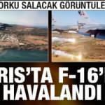 Kıbrıs'ta F-16'lar havalandı! Korku salacak görüntüler