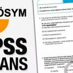 KPSS lisans sonuçları ne zaman açıklanacak? KPSS lisans soru ve cevap anahtarı..