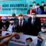 Ağrı'da 'pandemi müfettişleri' çocuklar görev başında