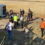 Aksaray'da yolcu otobüsü devrildi: 30 yaralı