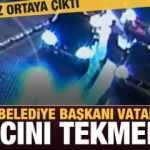 CHP'li Belediye Başkanı vatandaşın aracını böyle tekmeledi