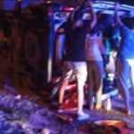 İskenderun'da hasta almaya giden ambulans devrildi