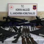 Konya'da silah kaçakçılığı operasyonu: 91 av tüfeği ele geçirildi
