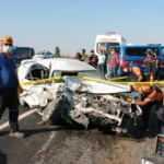 Aksaray'da otomobille minibüs çarpıştı: 1 ölü, 1'i ağır 6 yaralı