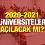 Üniversiteler 2020-2021 eğitim yılında ne zaman açılacak? Üniversitelerde dersler...