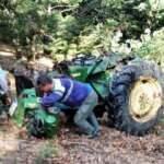 Traktör ormana yuvarlandı: 1 ölü 2 yaralı