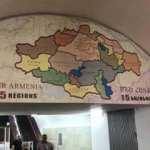 Erivan'daki metro girişinde skandal harita!