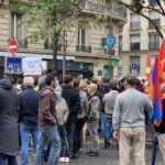 Paris'te terör örgütü PKK yandaşları ve Ermeniler birlikte gösteri düzenledi