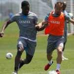 Trabzonspor'da Pereira ve Ekuban sevinci