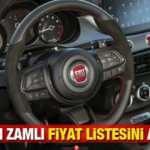 Fiat Ekim ayı yeni zamlı fiyat listesini açıkladı!  Fiat Egea 500L, Panda fiyatı