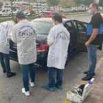 Lüks otomobilin bagajından 70 bin doları çalıp kaçtılar