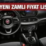 Fiat araç modellerine yeniden zam yaptı! İşte Fiat Egea Fiorino Doblo Panda 500 fiyat listesi