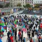 İsveç'te işgalci Ermenistan'a protesto!
