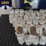Konya'da durdurulan iki otomobilde 58 kilo esrar ele geçirildi: 4 gözaltı