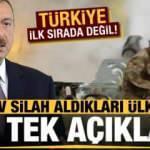Aliyev silah aldıkları ülkeleri açıkladı! Türkiye ilk sırada değil...