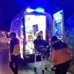 Hayvan yüklü kamyon devrildi: 2 kişi yaralandı, 8 hayvan telef oldu