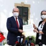 KKTC'nin yeni Cumhurbaşkanı Tatar mazbatasını aldı