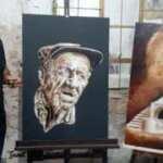 Ziftten yaptığı tablolar görenleri hayran bırakıyor