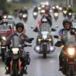 Pamukkale'de Cumhuriyet Bayramı motosiklet kortejiyle kutlandı