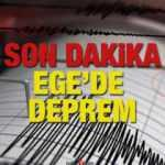 İzmir'de 6,6 şiddetinde deprem gerçekleşti! Depreme ilişkin ilk görüntüler