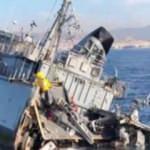 Yunanistan'ın savaş gemisi battı!