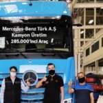 Mercedes'in 285 bininci kamyonu bantlardan indi