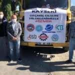 Kayseri'den İzmir'deki depremzedelere battaniye yardımı