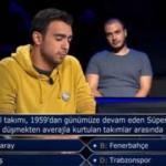 'Kim Milyoner Olmak İster yarışmasına damga vuran Fenerbahçe sorusu