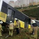 Kayaşehir'de İETT otobüsü yoldan çıktı