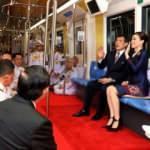 Tayland Kralı Maha Vajiralongkorn metro açılışında kırmızı halı serdirdi